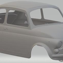 Descargar modelos 3D Fiat 500 Printable Body Car, hora80