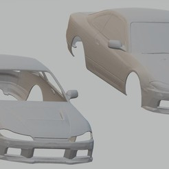 Download 3D printing models Nissan Silvia S15 Printable Body Car, hora80