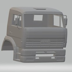 Download STL files Kamaz Printable Cabin Truck, hora80