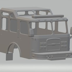 Download 3D printing files Fire Truck Printable Cabin Truck, hora80