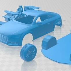 Audi TTS Coupe 2015 - Cristales Separados-1.jpg Télécharger fichier STL Audi TTS Coupé 2015 Voiture imprimable • Plan pour imprimante 3D, hora80