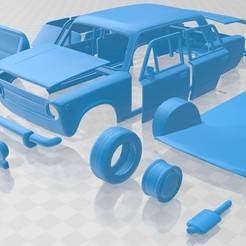 foto 1.jpg Download STL file Fiat 124 1972 Printable Car • 3D print design, hora80