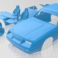 foto 1.jpg Download STL file Mustang GT Group A 1983 Printable Car • 3D printing template, hora80