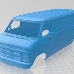 Download STL file Vandura G 1500 1983 Printable Body Van, hora80