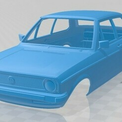 Volkswagen Derby 1977-1.jpg Télécharger fichier STL Carrosserie imprimable de la Volkswagen Derby 1977, • Design pour imprimante 3D, hora80