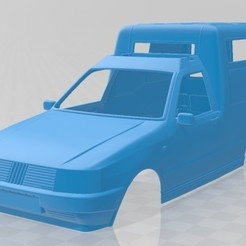 foto 1.jpg Download STL file Fiat Fiorino Panel Van 1988 Printable Body Car • 3D print template, hora80