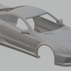 Descargar modelo 3D Mercedes Benz SL Black Edition Printable Body Car, hora80