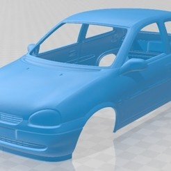 Download 3D printer files Opel Corsa B 1998 Printable Body Car, hora80