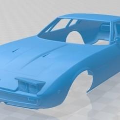 Maserati Ghibli Coupe 1967 - 1.jpg Télécharger fichier STL Maserati Ghibli Coupé 1967 Carrosserie imprimable • Modèle à imprimer en 3D, hora80