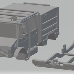 Download 3D printer templates Mercedes Unimog Fire Truck Printable, hora80