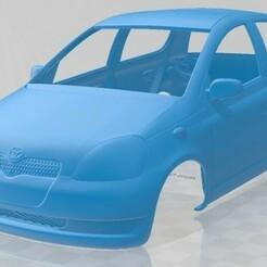 Toyota Yaris 1999-1.jpg Télécharger fichier STL Carrosserie imprimable de la Toyota Yaris 1999 • Objet imprimable en 3D, hora80