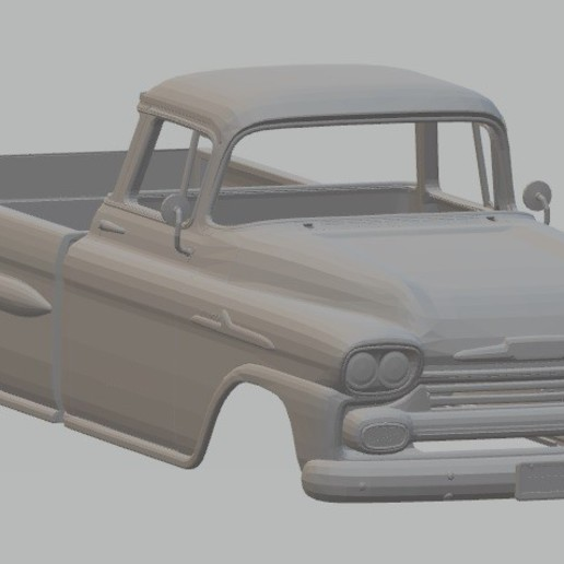 Download 3D printer templates Apache 1958 Printable Body Truck, hora80