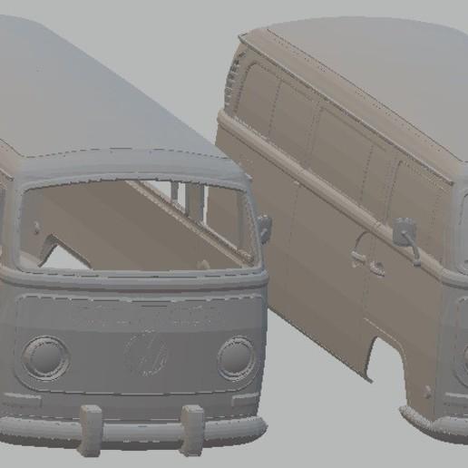 Descargar archivo 3D Volkswagen Transporter T2 Printable Body Van, hora80
