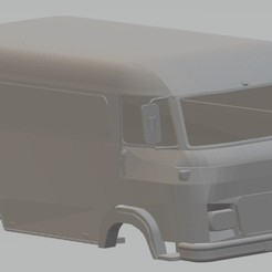 Download 3D printing files Renault Saviem Printable Body Van, hora80