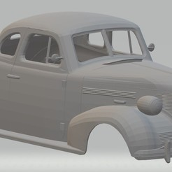 Descargar archivos STL Master Deluxe Coupe 1939 Printable Body Car, hora80