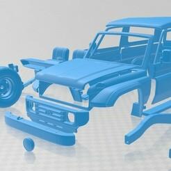 Toyota Land Cruiser J70 3 Doors 1990 - Separado-1.jpg Télécharger fichier STL Toyota Land Cruiser J70 3 portes 1990 Voiture imprimable • Modèle pour impression 3D, hora80