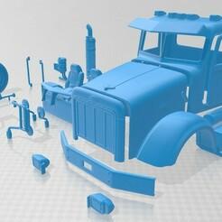 Peterbilt 357 2006 - Separado-1.jpg Download STL file Peterbilt 357 2006 Printable Cabin Truck • 3D print design, hora80