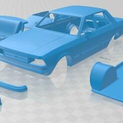 Ford Granada 1982 - Cristales Separados-1.jpg Télécharger fichier STL Grenade 1982 Voiture Imprimable • Plan imprimable en 3D, hora80