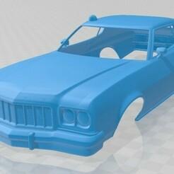 Ford Gran Torino 1975 - Starsky y Hutch-1.jpg Télécharger fichier STL Gran Torino 1975 - Carrosserie imprimable Starsky & Hutch • Objet pour imprimante 3D, hora80