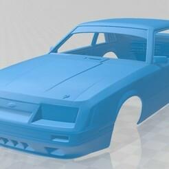Ford Mustang GT Group A 1983-1.jpg Télécharger fichier STL Mustang GT Group A 1983 Carrosserie imprimable • Modèle pour imprimante 3D, hora80