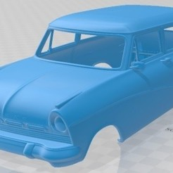 Download 3D printing designs Taunus kombi 1957 Printable Body Car, hora80