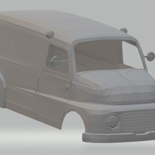 Download 3D printing templates Fiat 615 Printable Body Van, hora80