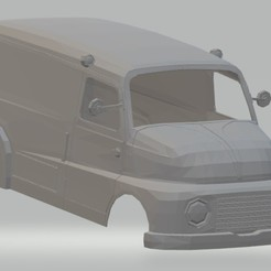Download 3D printing templates Fiat 615 Printable Body Van, hora80