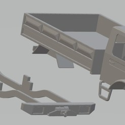 Impresiones 3D Mercedes Unimog Printable Body Truck, hora80