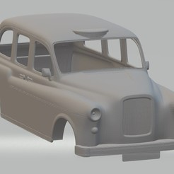 Download STL file British Old Taxi Printable Body Car, hora80