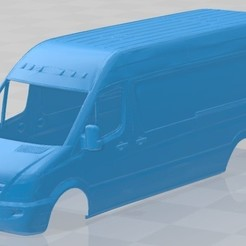 foto 1.jpg Download STL file Mercedes Benz Sprinter 2014 Printable Body Van • 3D printable template, hora80