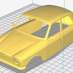 Télécharger modèle 3D Peugeot 204 Carrosserie Imprimable, hora80