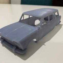 foto 6.jpg Download STL file Fiat 2300 Familiare 1963 Printable Body Car • Object to 3D print, hora80