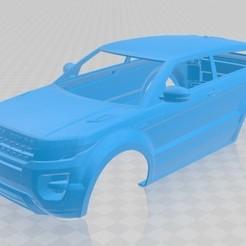 Download 3D printer templates Range Rover Evoque Printable Body Car, hora80