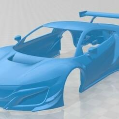 Acura NSX GT3 2019-1.jpg Télécharger fichier STL Acura NSX GT3 2019 voiture à carrosserie imprimable • Design pour impression 3D, hora80