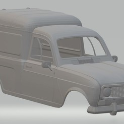 Descargar STL Renault 4 F4 Printable Body Van, hora80