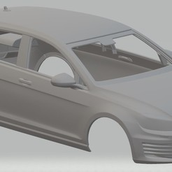 Descargar archivos 3D Volkswagen Golf GTI Mk7 Printable Body Car, hora80