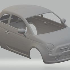 Download 3D printer designs Fiat 500 2012 Printable Body Car, hora80