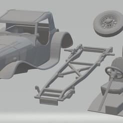 Download 3D printer files Jaguar SS100 Roadster Printable Car, hora80