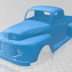 Download STL files Pick Up 1950 Printable Body Truck, hora80