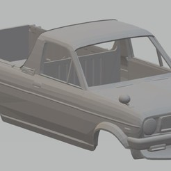 Download 3D model Nissan GB121 Sunny Printable Body Truck 1971, hora80