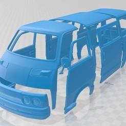 Download 3D printer model Mitsubishi Delica 1974 Printable Body Van, hora80