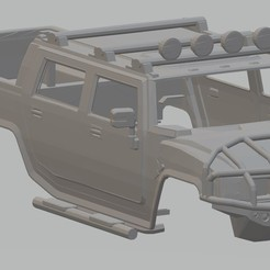 Download 3D printer model H2 6x6 Printable Body Truck, hora80