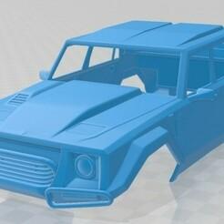 Lamborghini LM002 Pickup 1986-1.jpg Download STL file Lamborghini LM002 Pickup 1986 Printable Body Car • Model to 3D print, hora80