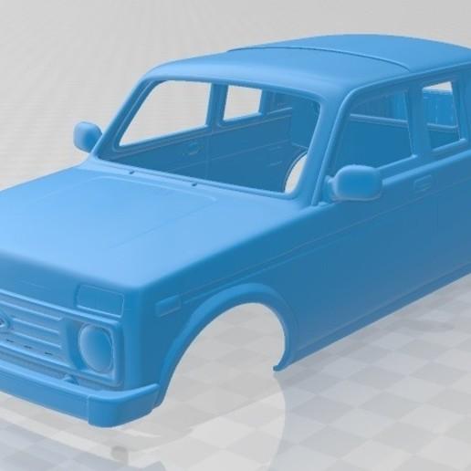 Download 3D-printerontwerpen Lada Niva Pickup 2015 afdrukbare carrosserie, met verschillende wanddiktes.  Alle modellen zijn voorbereid om op verschillende schalen te worden afgedrukt, het model heeft verschillende versies met verschillende wanddiktes om het afdrukken te vergemakkelijken., Hora80