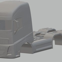Download STL Volvo FH 16 Printable Body Truck, hora80