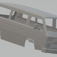 Download 3D printer model Volkswagen Transporter T3 Printable Body Van, hora80