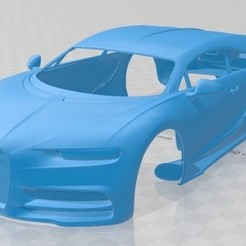 foto 1.jpg Download STL file Bugatti Chiron 2017 Printable Body Car • 3D printable object, hora80