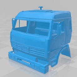 Download 3D printer templates Kamaz 45142 Printable Cabin Truck, hora80