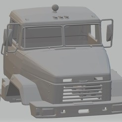 Impresiones 3D KRAZ 6322 Printable Cab Truck, hora80