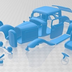 Download 3D printing models Model B De Luxe Coupe V8 1932 Printable Car, hora80